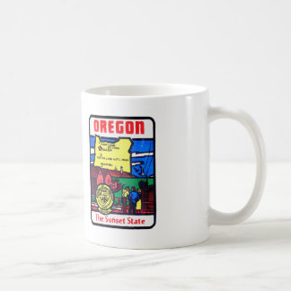 Vintage Oregon 60s Decal Art Sunshine State Coffee Mug