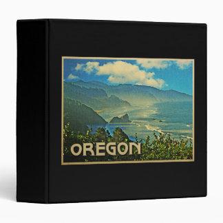 Vintage Oregon Coastline 3 Ring Binder