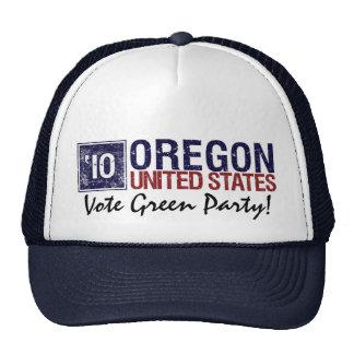 Vintage Oregon del Partido Verde del voto en 2010  Gorra