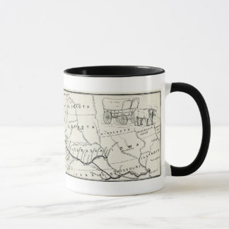 Vintage Oregon Trail Historical Map Mug