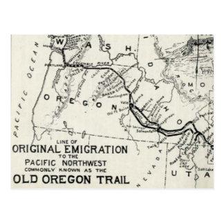Vintage Oregon Trail Historical Map Postcard