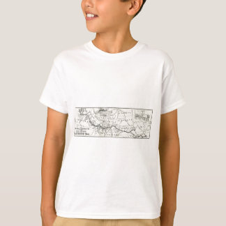 Vintage Oregon Trail Historical Map T-Shirt
