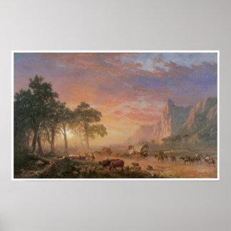 Vintage Oregon Trail Poster