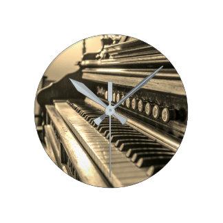 Vintage Organ Round Clock