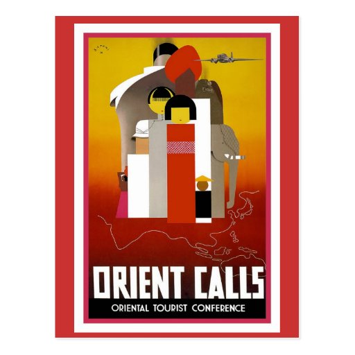 Vintage Orient Calls Post Card