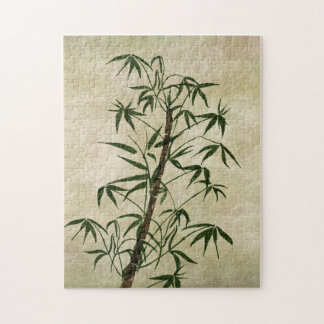 Vintage Oriental Bamboo 1 Puzzle
