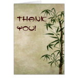 Vintage Oriental Bamboo 1 Stationery Note Card