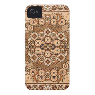 vintage oriental blanco beige marrón del modelo de Case-Mate iPhone 4 protector