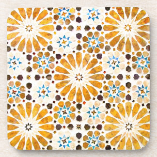 Vintage Oriental Islamic Pattern Design Drink Coaster