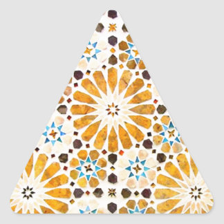 Vintage Oriental Islamic Pattern Design Triangle Stickers