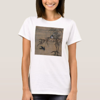 Vintage Oriental Japanese Painting of Two Birds T-Shirt