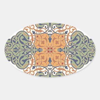 Vintage Oriental Pattern Design Stickers