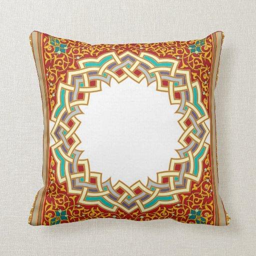 Oriental Design Throw Pillows : Vintage Oriental Pattern Design Throw Pillow Zazzle