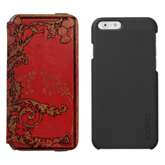 """""""VINTAGE ORIENTAL RED AND GOLD LEAF"""" iPhone 6/6S WALLET CASE"""