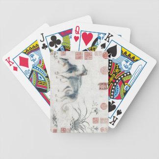 Vintage Oriental Saluki playing cards