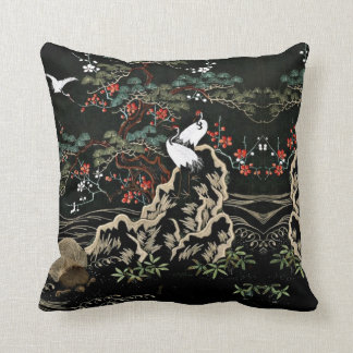 Vintage oriental Throw Pillows