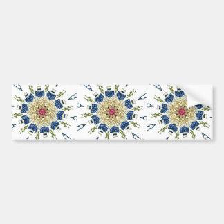 Vintage Oriental Vase Floral Kaleidoscope Bumper Sticker