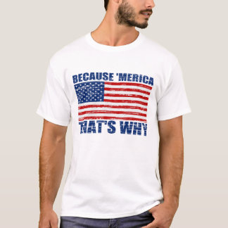 Vintage Original BECAUSE 'MERICA THAT'S WHY T-Shirt