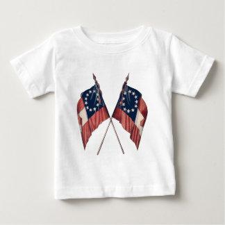 Vintage Original Illustrated American Flag Baby T-Shirt
