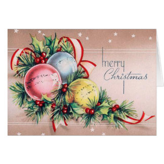 Vintage Ornament Christmas Card