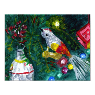 Vintage ornaments card