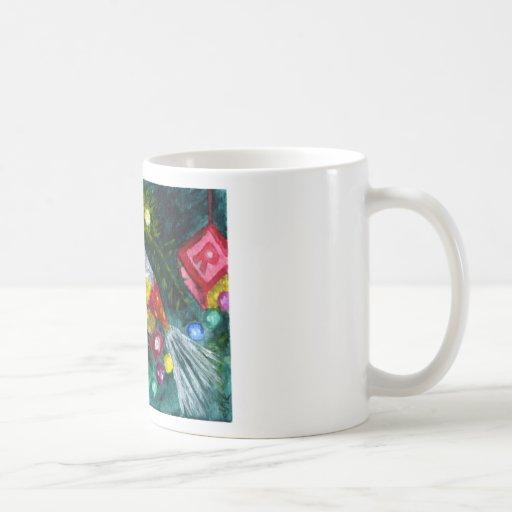 Vintage ornaments classic white coffee mug