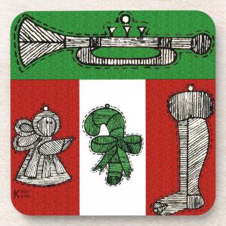 Vintage Ornaments Coaster
