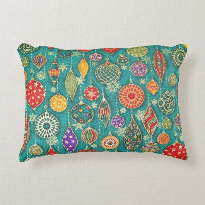 Vintage Decorative Throw Pillows : Vintage Ornaments Decorative Pillow Zazzle
