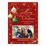 Vintage Ornaments Family Photo Christmas Card