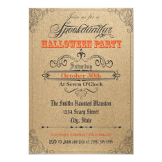 Vintage Ornaments Halloween Invitation at Zazzle