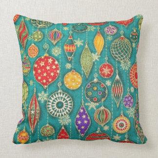 Vintage Ornaments Throw Pillows