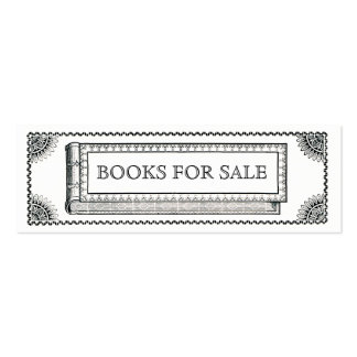 Vintage Ornate Book, Antique Books For Sale Mini Business Card