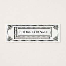 Art history business cards templates zazzle vintage ornate book antique books for sale mini business card reheart Choice Image