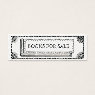 Vintage Ornate Book, Antique Books For Sale Mini Business Card