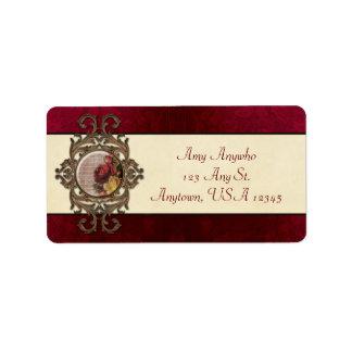 Vintage Ornate Floral Label