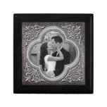 Vintage Ornate Frame Photo Template Jewelry Box