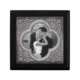 Vintage Ornate Frame Photo Template Jewelry Box