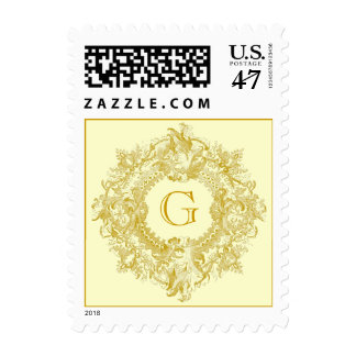 Vintage Ornate Gold Postage
