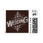 Vintage Ornate - Join Us for our Wedding - Brown Postage