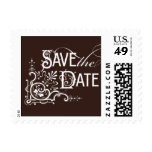 Vintage Ornate - Save the Date - Brown Stamp