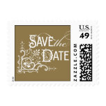 Vintage Ornate - Save the Date - Gold Stamp