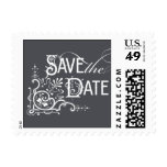 Vintage Ornate - Save the Date - Gray Stamp