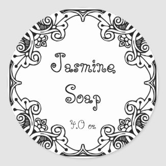 Vintage Ornate Soap and Bath Products Label