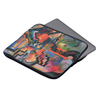 Vintage Orphism, Colored Composition, August Macke Computer Sleeve