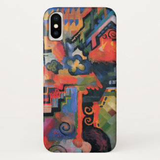 Vintage Orphism, Colored Composition, August Macke iPhone X Case