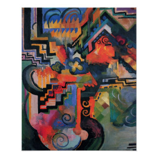 Vintage Orphism, Colored Composition, August Macke Poster