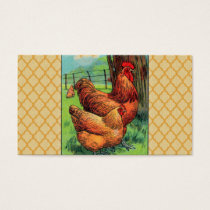 Vintage Orpington Chicken Business Card