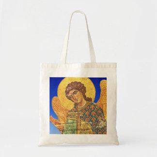 Vintage orthodox ikon, Angel Gabriel Tote Bags