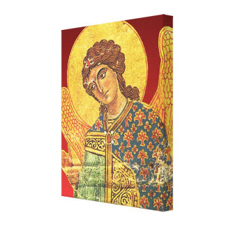 Vintage orthodox ikon, Angel Gabriel Canvas Print