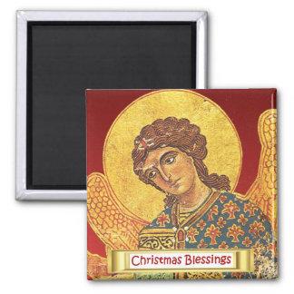 Vintage orthodox ikon, Angel Gabriel Fridge Magnet